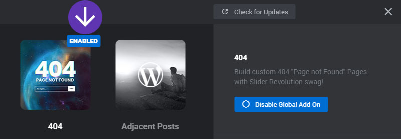 [Slider Revolution 6] Display a Slider Revolution for your 404 Error pages
