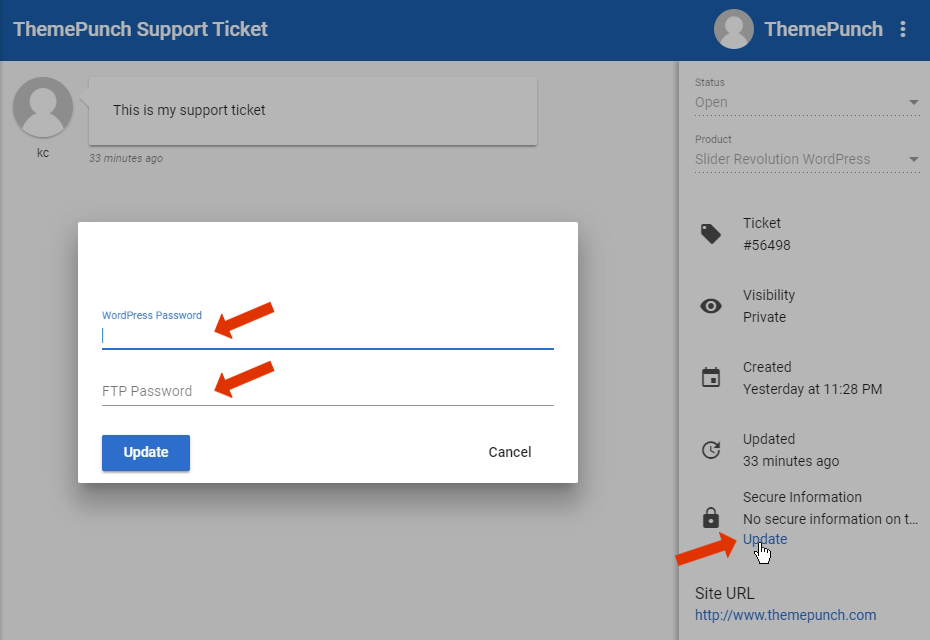 [Slider Revolution 6] This article will guide you through updating your Login Credentials to yourSupport Ticket