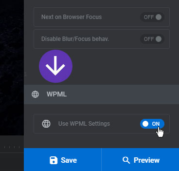 [Slider Revolution 6] Slider Revolution is compatible with the WPML Plugin. It can be enabled toward the bottom of your Module's General Settings.