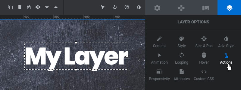 [Slider Revolution 6] Link your Layers to another Slide and Play/Pause the Slider's progress